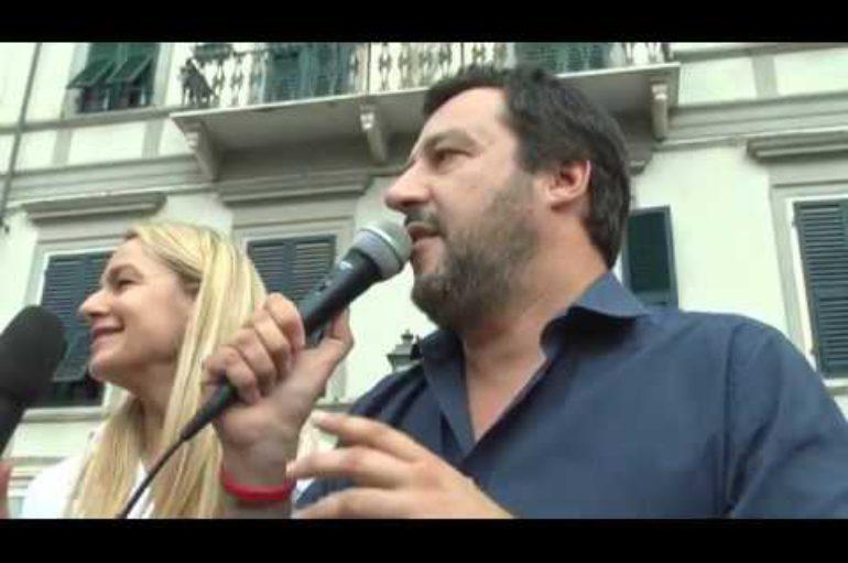 Matteo Salvini a Sarzana