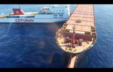 Capo Corso, collisione tra due navi, pericolo inquinamento