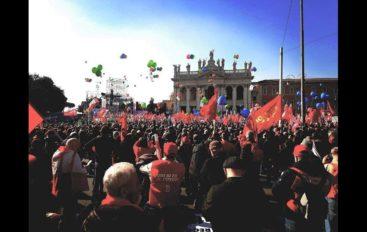 Manifestazione dei sindacati a Roma, la partecipazione della Spezia