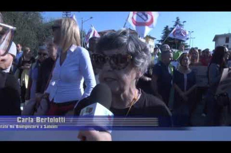 No biodigestore, manifestazione a S. Stefano Magra
