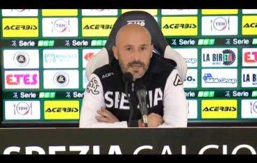 Spezia calcio, mister Italiano pre Venezia