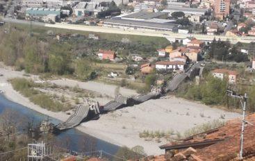 Crollato il ponte di Albiano
