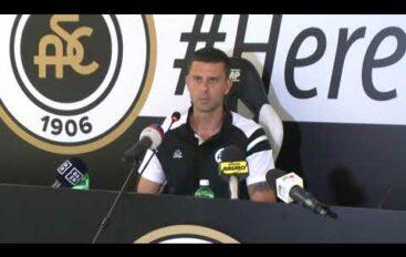 Spezia calcio, il mister Thiago Motta presentato ufficialmente oggi